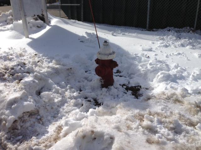 Hydrant properly cleared